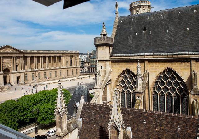 Вид на церковь Сен-Жермен-л'Осеруа сверху