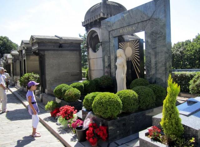 Могила Далиды, кладбище Монмартр (Cimetière de Montmartre)