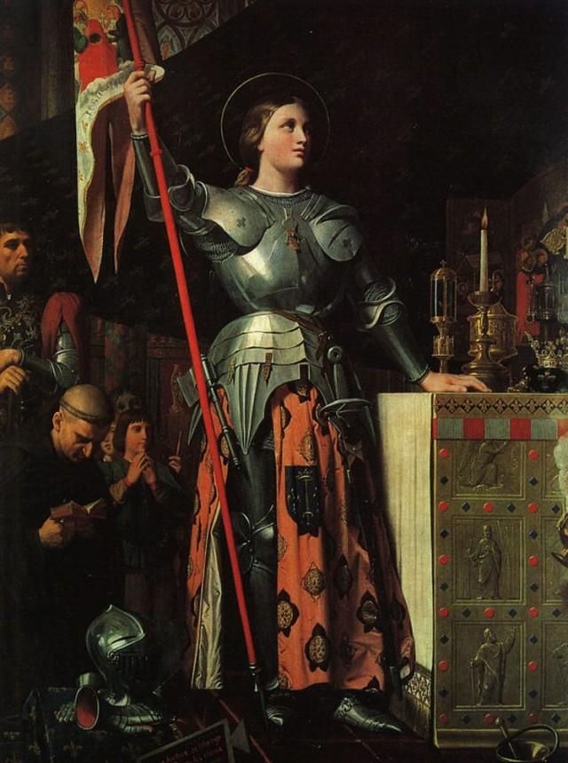 Жанна д'Арк на коронации Карла VII (Доминик Энгр, 1780-1867гг.)