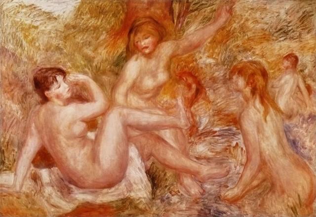 """Pierre-Auguste Renoir  """"Les Grandes Baigneuses"""""""
