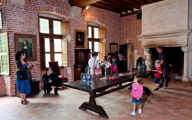 Интерьер замка Кло-Люсе