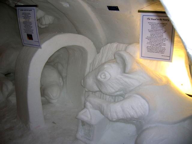 Грот с ледяными фигурами