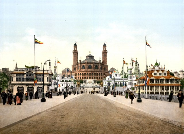 Дворец Трокадеро (Palais du Trocadéro) во время Всемирной выставки 1900 года