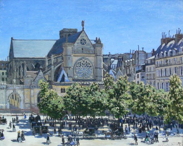Церковь Сен-Жермен-л'Оксерруа на картине Клода Моне, 1867