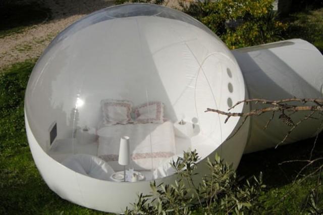 Отель-«пузырь» с видом на звёзды.