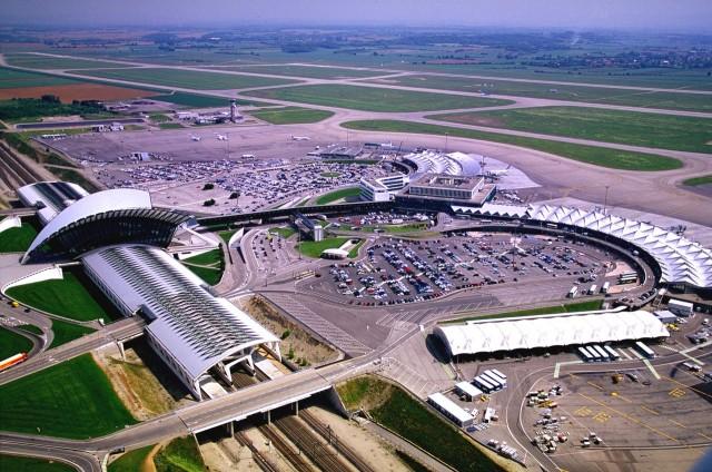 Аэропорт и железнодорожный вокзал Lyon Saint-Exupéry