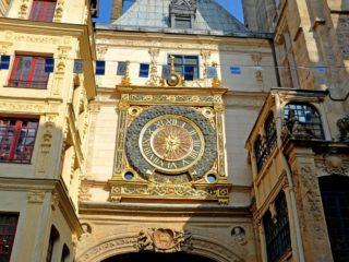 Улица Грос-Орлож и первые городские часы Руана
