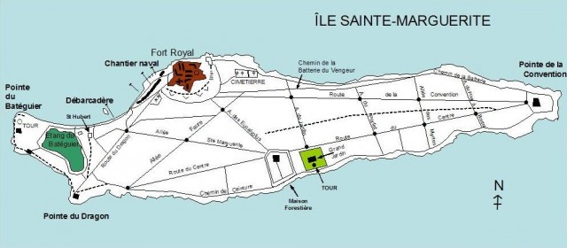 Карта Сент-Маргерит