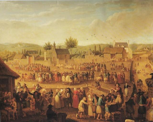 Ярмарка в Кемпере, 1821, Olivier Perrin