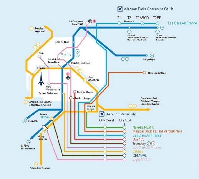 Схема автобусных маршрутов и мест, где можно пересесть на метро или электричку.